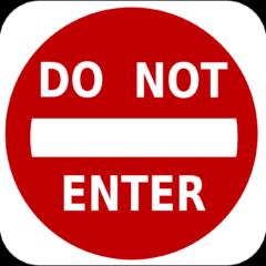 No Entry Do Not Enter Entry  - Clker-Free-Vector-Images / Pixabay